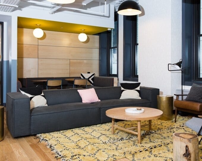 Gray Sofa | Co-working Space