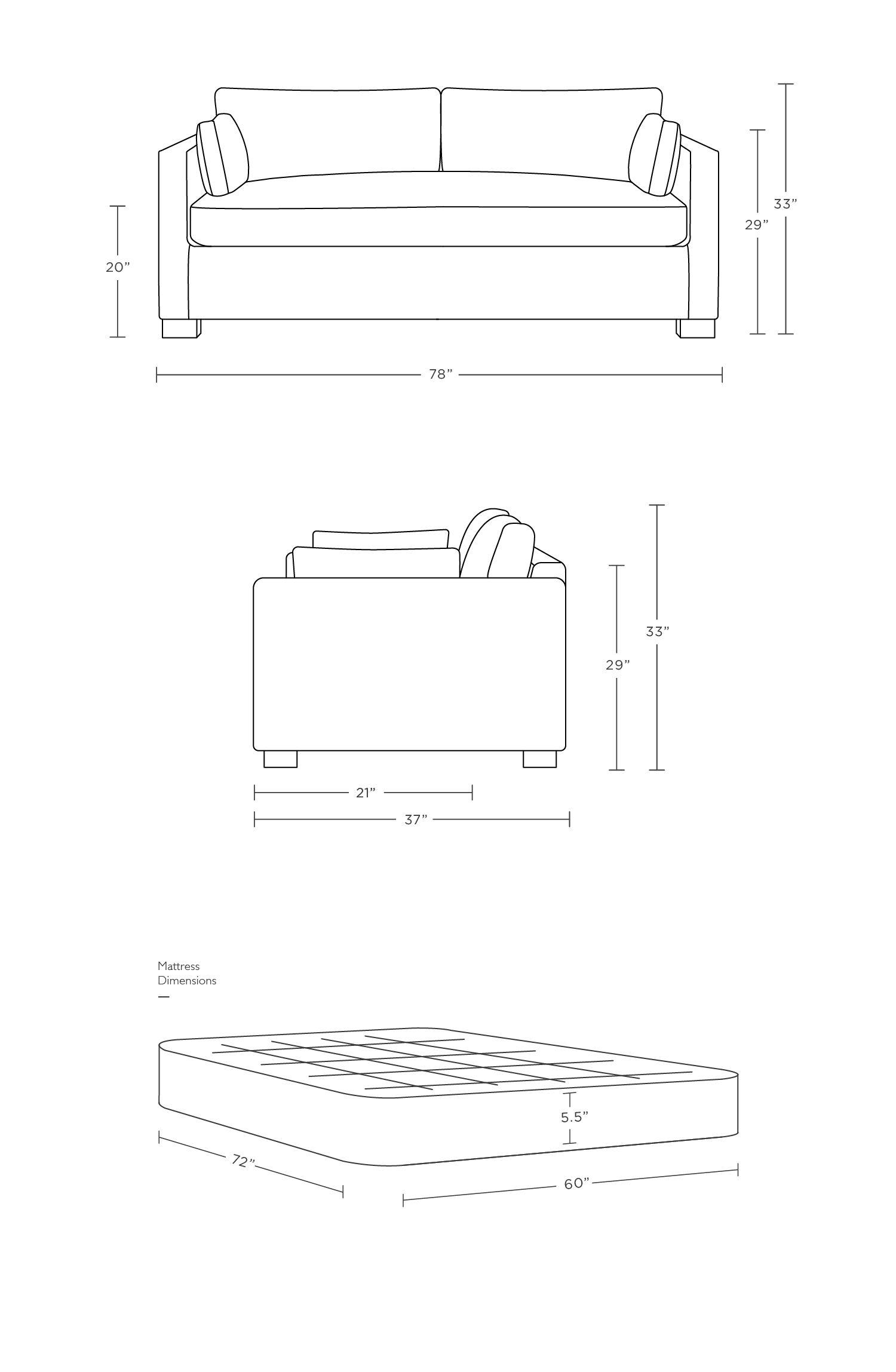 Charly Custom Sleeper Sofa Interior Define