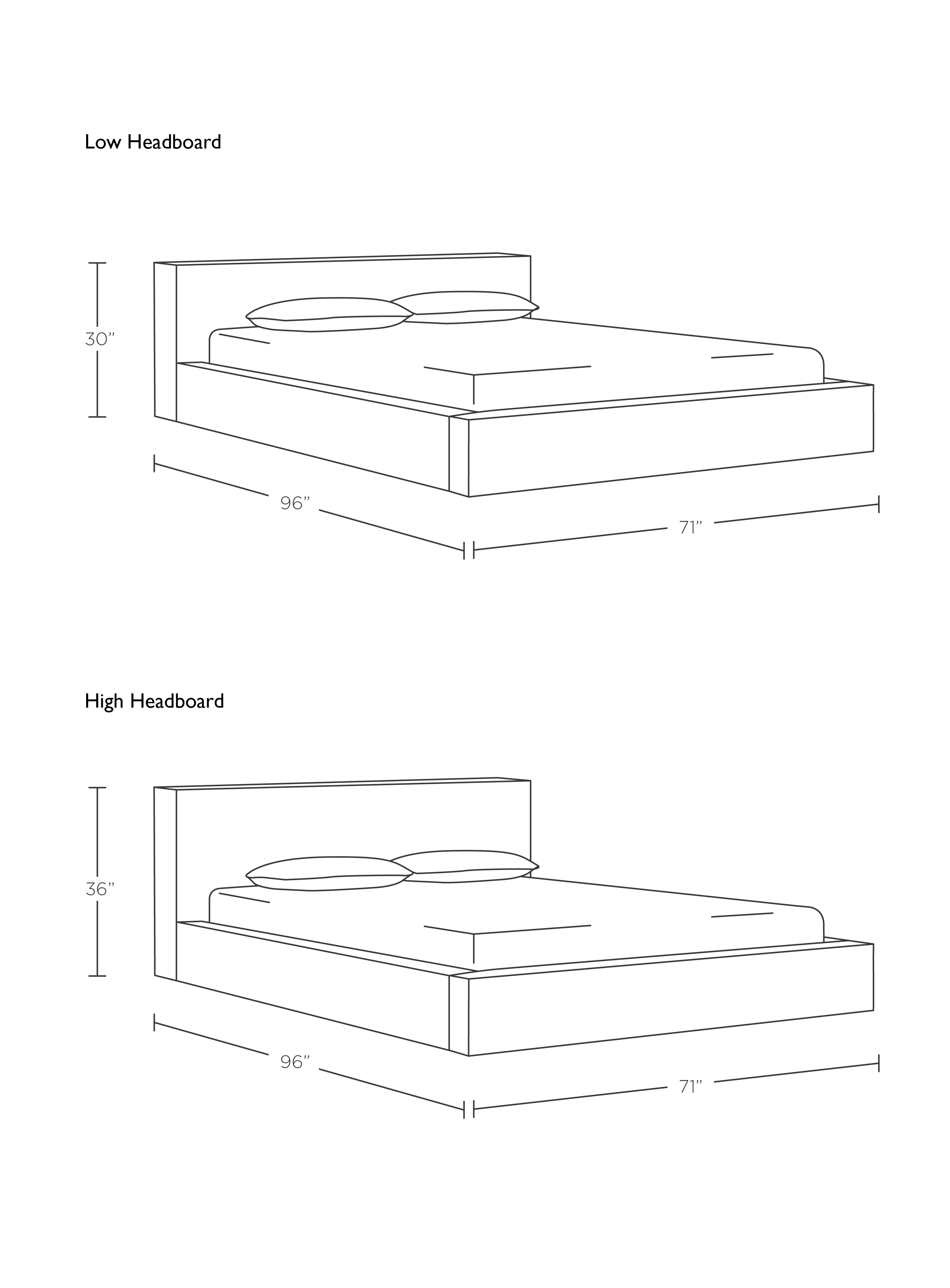 mattress drawing. (Length Varies Based On Your Selection) Mattress Drawing