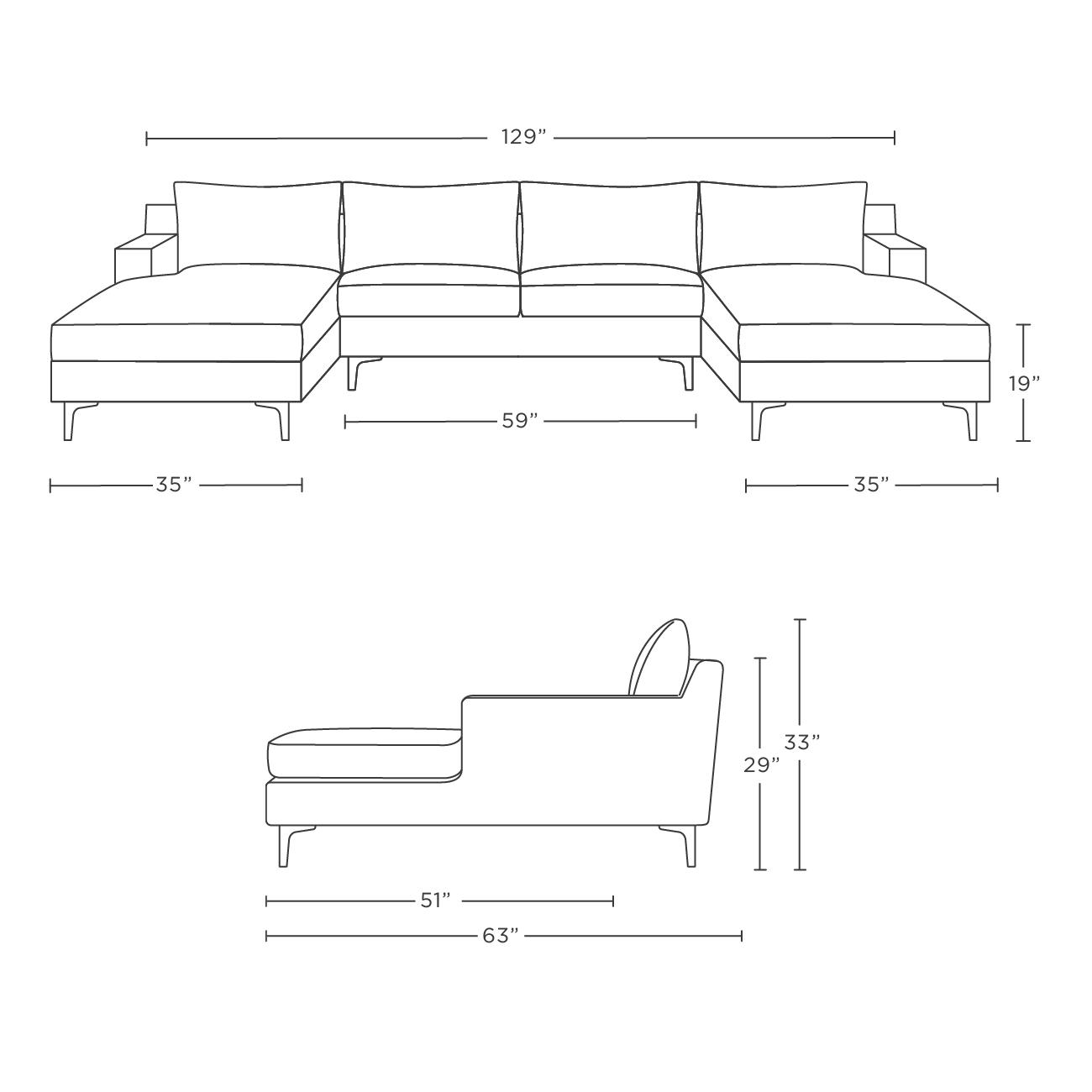 dd57f01c54a0 Sloan Custom U-Sectional Sofa - Interior Define