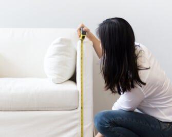 Measuring a piece of custom furniture