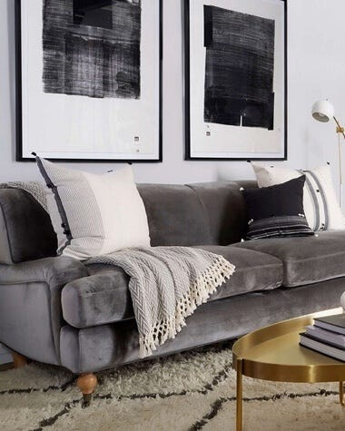 Interior Define Rose Sofa in a classically decorated home