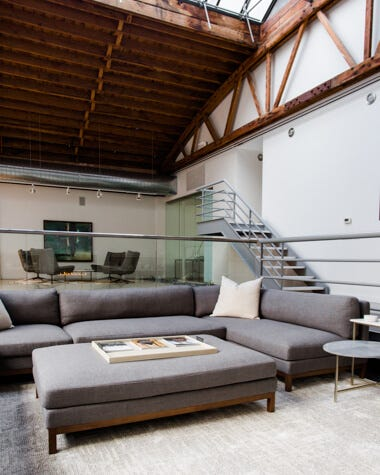 Interior Define Jasper Sectional in a modern home