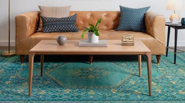 Interior Define Linden coffee table in a living room setting