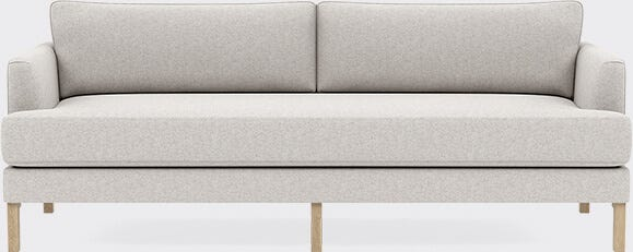 Interior Define Winslow Sofa in Pebble Heathered Weave with Walnut Oak Leg